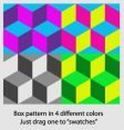 box pattern vector image vector image