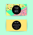 business card template with colorful geometric vector image