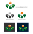 Business web icon logo vector image vector image