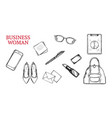 business woman hand drawn concept vector image