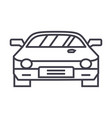 car raceracing line icon sign vector image vector image