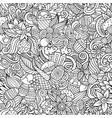 cartoon cute doodles hand drawn happy easter vector image vector image