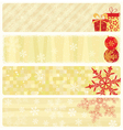 christmas beige banners vector image