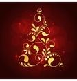 christmas golden tree vector image