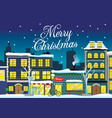 christmas town in the winter vector image vector image
