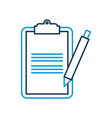 clipboard checkliast with write pen work element vector image vector image