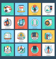 design and development flat icons vector image vector image