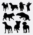 Dog pet animal silhouette 01 vector image