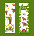 farm products vertical banner vector image vector image