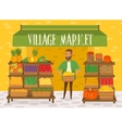 Farmers market Local farmer shopkeeper vector image vector image