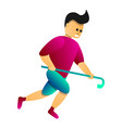 fast field hockey player icon cartoon style vector image vector image
