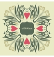 Floral ornate background with love vector image vector image
