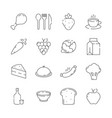 food icon cuisine products menu and kitchen items vector image vector image