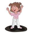 girl cheering vector image vector image