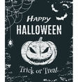 Grunge Happy Halloween poster template vector image