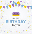 happy birthday simple card background vector image