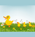happy duck cartoon vector image