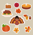 happy thanksgiving set happy thanksgiving set vector image vector image