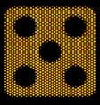 hexagon halftone dice icon vector image