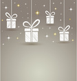 holidays paper gift box with star lights vector image vector image
