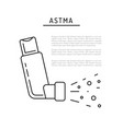 icons asthma vector image