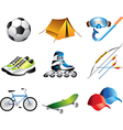 icons sportshop vector image