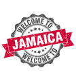 jamaica round ribbon seal vector image vector image