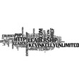 leadership styles text background word cloud vector image vector image