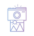 line digital camera with picture art image vector image vector image