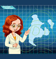 live news weather forecast vector image vector image