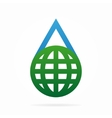 logo combination of a water and earth vector image
