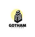 logo gotham simple mascot style vector image