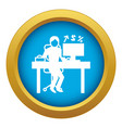 man office accounting icon blue isolated vector image vector image