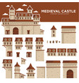 medieval castle or royal fortress constructor vector image