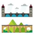 modern bridge flat pictograph business architectur vector image vector image