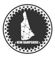 new hampshire state map vector image vector image