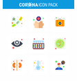 novel coronavirus 2019-ncov 9 flat color icon vector image vector image