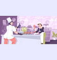 pastry cooking kitchen composition vector image