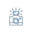 photography line icon concept photography flat vector image