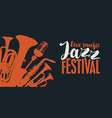 poster for a jazz festival live music vector image vector image