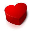 realistic blank big bright red heart shape vector image vector image