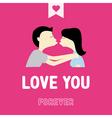 Romantic card67 vector image vector image