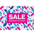 Sale abstract geometric banner discount vector image vector image