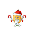 santa with candy fragrant pear cartoon character vector image vector image