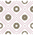 Seamless background with camera shutter symbols vector image vector image
