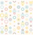 seamless colourful polka dot pattern vector image vector image