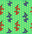 seamless floral pattern with currant berries vector image