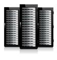 Servers Black vector image