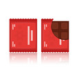 set of flat chocolate bar icons vector image vector image