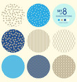set of round geometric seamless patterns vector image vector image